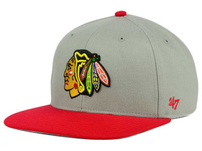 Chicago Blackhawks '47 NHL '47 Gray Sure Shot Snapback Cap