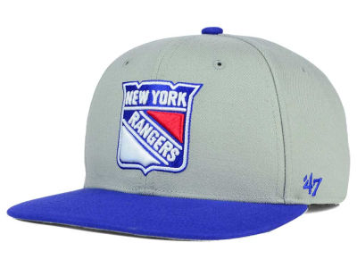 New York Rangers '47 NHL '47 Gray Sure Shot Snapback Cap