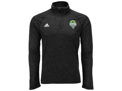 Seattle Sounders FC adidas MLS Men's Crest Logo 1/4 Zip Pullover