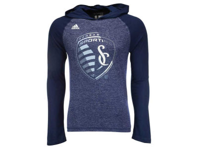 Sporting Kansas City adidas MLS Men's Aerofade Hooded Long Sleeve T-Shirt