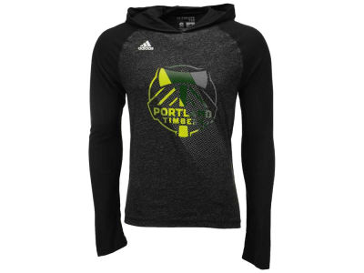 Portland Timbers adidas MLS Men's Aerofade Hooded Long Sleeve T-Shirt