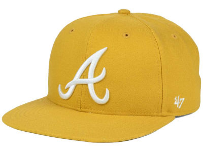 Atlanta Braves '47 MLB '47 Wheat Sure Shot Snapback Cap