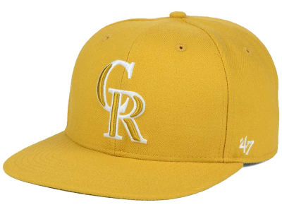 Colorado Rockies '47 MLB '47 Wheat Sure Shot Snapback Cap