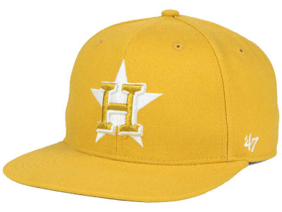 Houston Astros '47 MLB '47 Wheat Sure Shot Snapback Cap