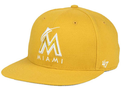 Miami Marlins '47 MLB '47 Wheat Sure Shot Snapback Cap