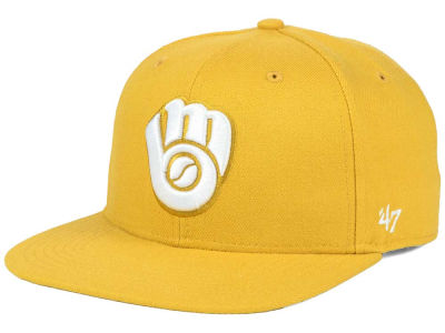 Milwaukee Brewers '47 MLB '47 Wheat Sure Shot Snapback Cap