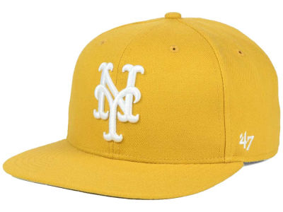 New York Mets '47 MLB '47 Wheat Sure Shot Snapback Cap
