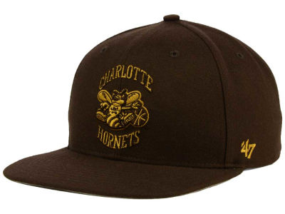 Charlotte Hornets '47 NBA HWC '47 Brown Sure Shot Snapback Cap