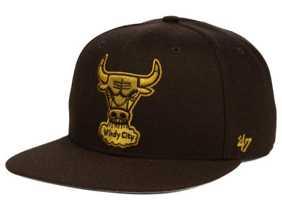 Chicago Bulls '47 NBA HWC '47 Brown Sure Shot Snapback Cap