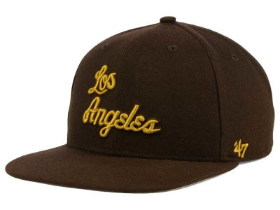 Los Angeles Lakers '47 NBA HWC '47 Brown Sure Shot Snapback Cap