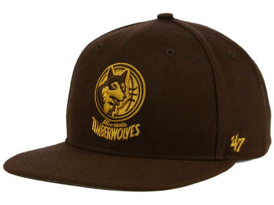 Minnesota Timberwolves '47 NBA HWC '47 Brown Sure Shot Snapback Cap