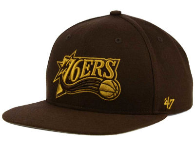 Philadelphia 76ers '47 NBA HWC '47 Brown Sure Shot Snapback Cap