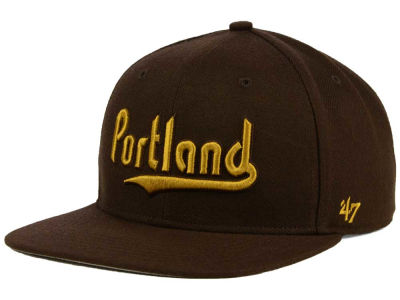 Portland Trail Blazers '47 NBA HWC '47 Brown Sure Shot Snapback Cap