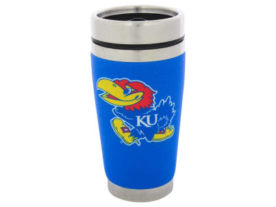 Kansas Jayhawks 16oz Stainless Steel Travel Tumbler