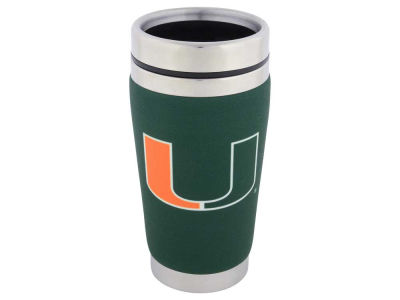 Miami Hurricanes 16oz Stainless Steel Travel Tumbler
