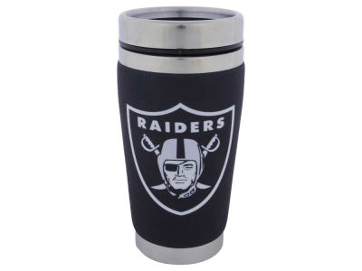 Oakland Raiders 16oz Stainless Steel Travel Tumbler