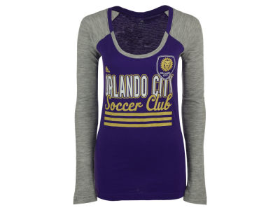 Orlando City SC adidas MLS Women's 3 Stripe Stack Long Sleeve T-Shirt
