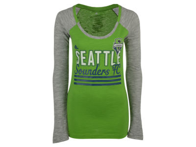 Seattle Sounders FC adidas MLS Women's 3 Stripe Stack Long Sleeve T-Shirt