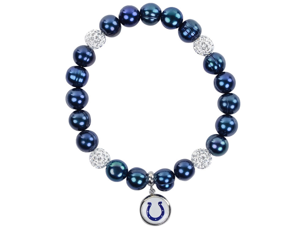 Indianapolis Colts Honora Bracelet With Sparkle Beads And Charm