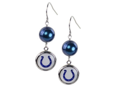 Indianapolis Colts Honora Earrings-Pearl with Dangle Charm