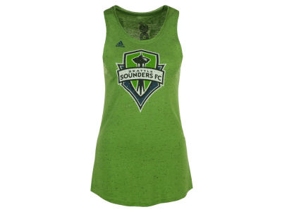 Seattle Sounders FC adidas MLS Women's Logo Glitz Tank Top