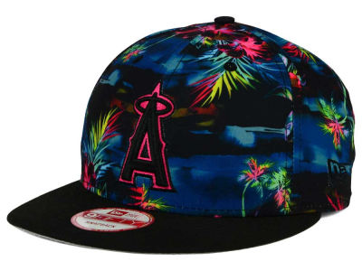 Los Angeles Angels New Era MLB Dark Tropic 9FIFTY Snapback Cap