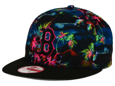 Boston Red Sox New Era MLB Dark Tropic 9FIFTY Snapback Cap