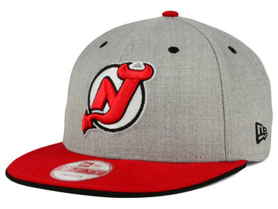 New Jersey Devils New Era NHL Heather Team Color 9FIFTY Snapback Cap