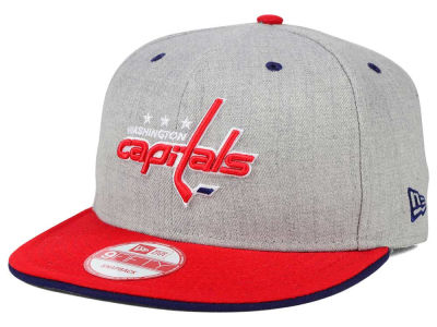 Washington Capitals New Era NHL Heather Team Color 9FIFTY Snapback Cap