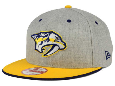 Nashville Predators New Era NHL Heather Team Color 9FIFTY Snapback Cap