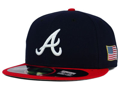 Atlanta Braves New Era MLB AC 9-11 Patch 59FIFTY Cap