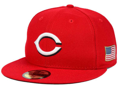 Cincinnati Reds New Era MLB AC 9-11 Patch 59FIFTY Cap