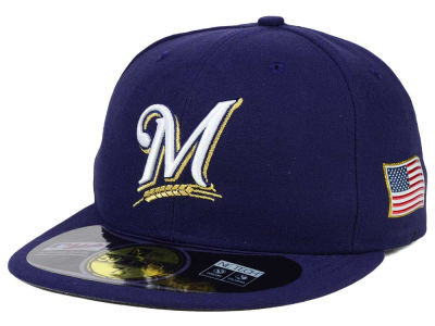 Milwaukee Brewers New Era MLB AC 9-11 Patch 59FIFTY Cap