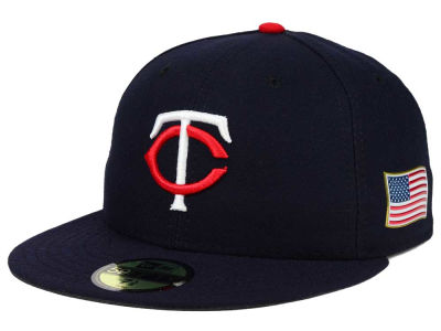 Minnesota Twins New Era MLB AC 9-11 Patch 59FIFTY Cap