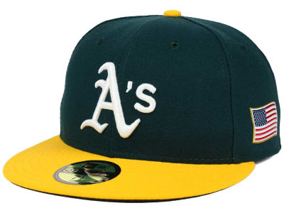 Oakland Athletics New Era MLB AC 9-11 Patch 59FIFTY Cap