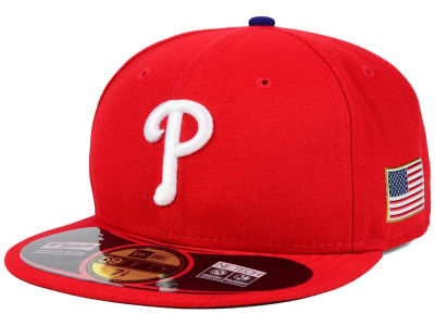 Philadelphia Phillies New Era MLB AC 9-11 Patch 59FIFTY Cap