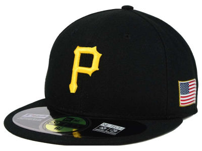 Pittsburgh Pirates New Era MLB AC 9-11 Patch 59FIFTY Cap