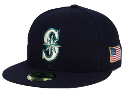 Seattle Mariners New Era MLB AC 9-11 Patch 59FIFTY Cap