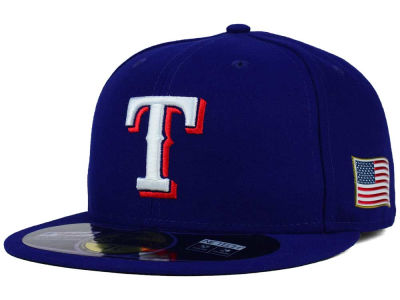 Texas Rangers New Era MLB AC 9-11 Patch 59FIFTY Cap