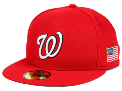 Washington Nationals New Era MLB AC 9-11 Patch 59FIFTY Cap