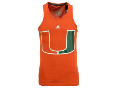 Miami Hurricanes adidas NCAA Men's Huge Preferred Logo Tank