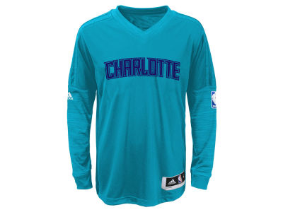 Charlotte Hornets NBA Youth On Court Long Sleeve Shooter Shirt