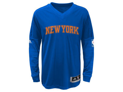 New York Knicks NBA Youth On Court Long Sleeve Shooter Shirt