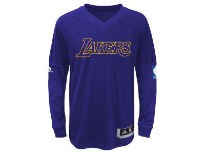 Los Angeles Lakers NBA Youth On Court Long Sleeve Shooter Shirt