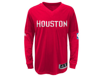 Houston Rockets NBA Youth On Court Long Sleeve Shooter Shirt