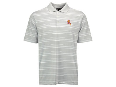 Arizona State Sun Devils adidas NCAA Men's Puremotion Textured Stripe Polo Shirt