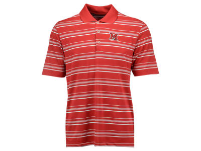 Miami (Ohio) Redhawks adidas NCAA Men's Puremotion Textured Stripe Polo Shirt