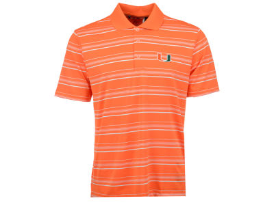 Miami Hurricanes adidas NCAA Men's Puremotion Textured Stripe Polo Shirt