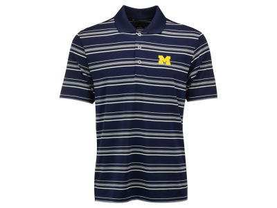 Michigan Wolverines adidas NCAA Men's Puremotion Textured Stripe Polo Shirt