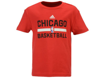Chicago Bulls adidas NBA Kids Practice Wear Graphic T-Shirt